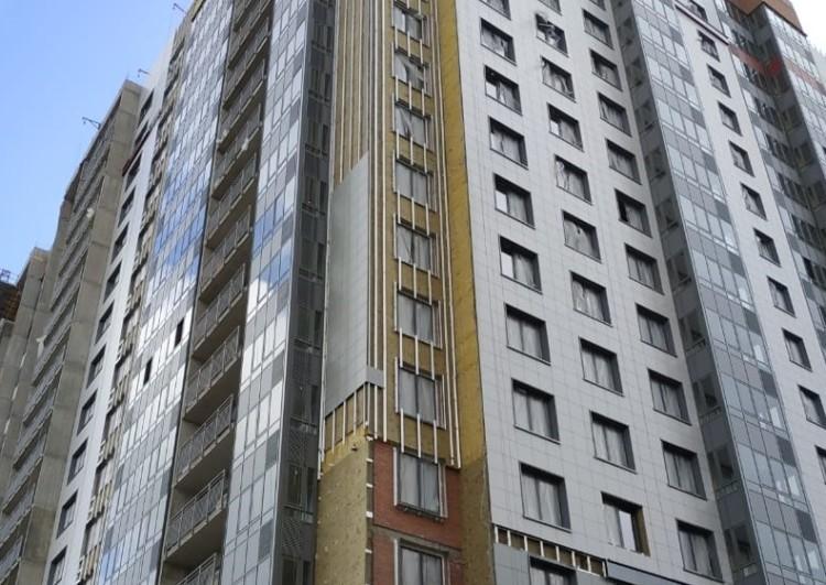монтаж вентилируемого фасада панельных домов