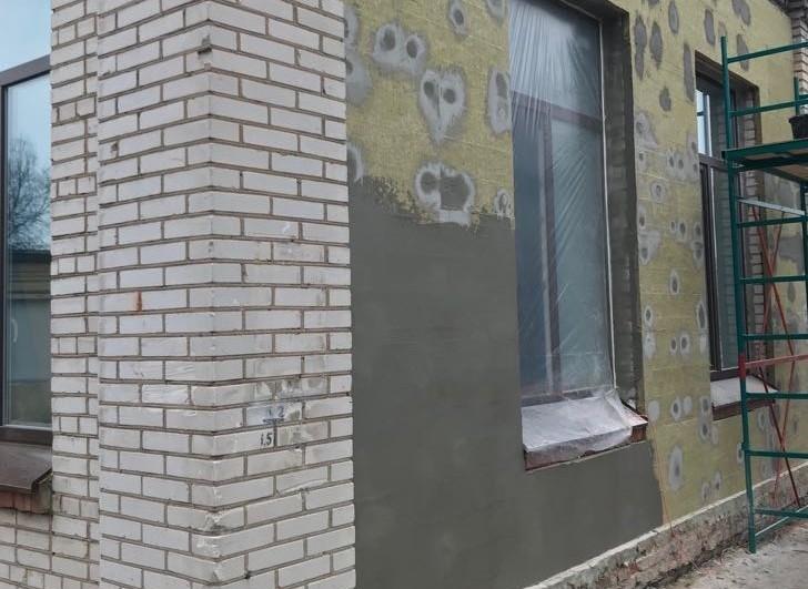 монтаж мокрого фасада качественно
