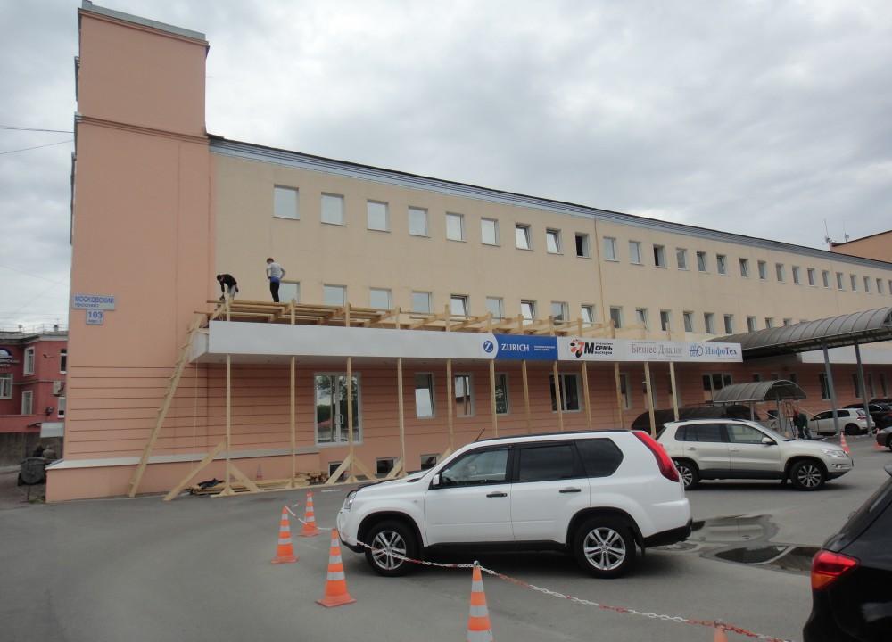 Выполненные в срок фасадные работы для офисного здания ЗАО «ЦТО-ККМ, СПб»