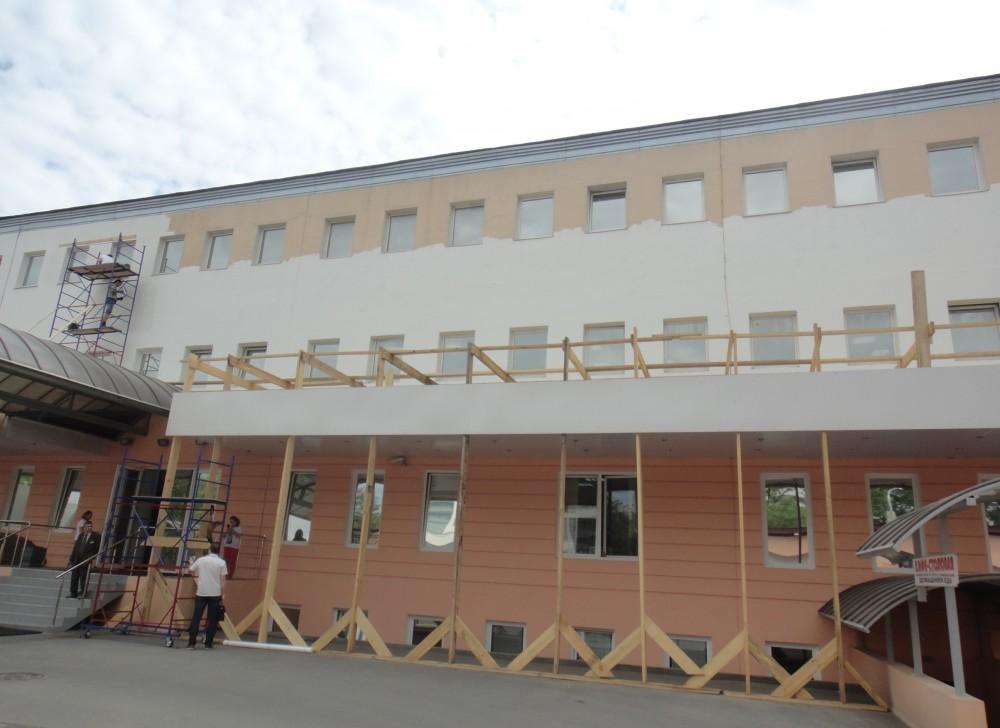 Стоимость работ по ремонту фасада офисного здания для ЗАО «ЦТО-ККМ, СПб» в С-Петербурге