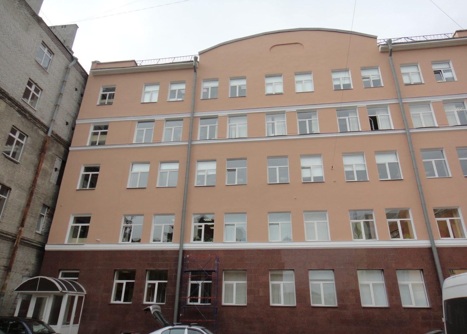 Косметический ремонт фасада здания для ЗАО