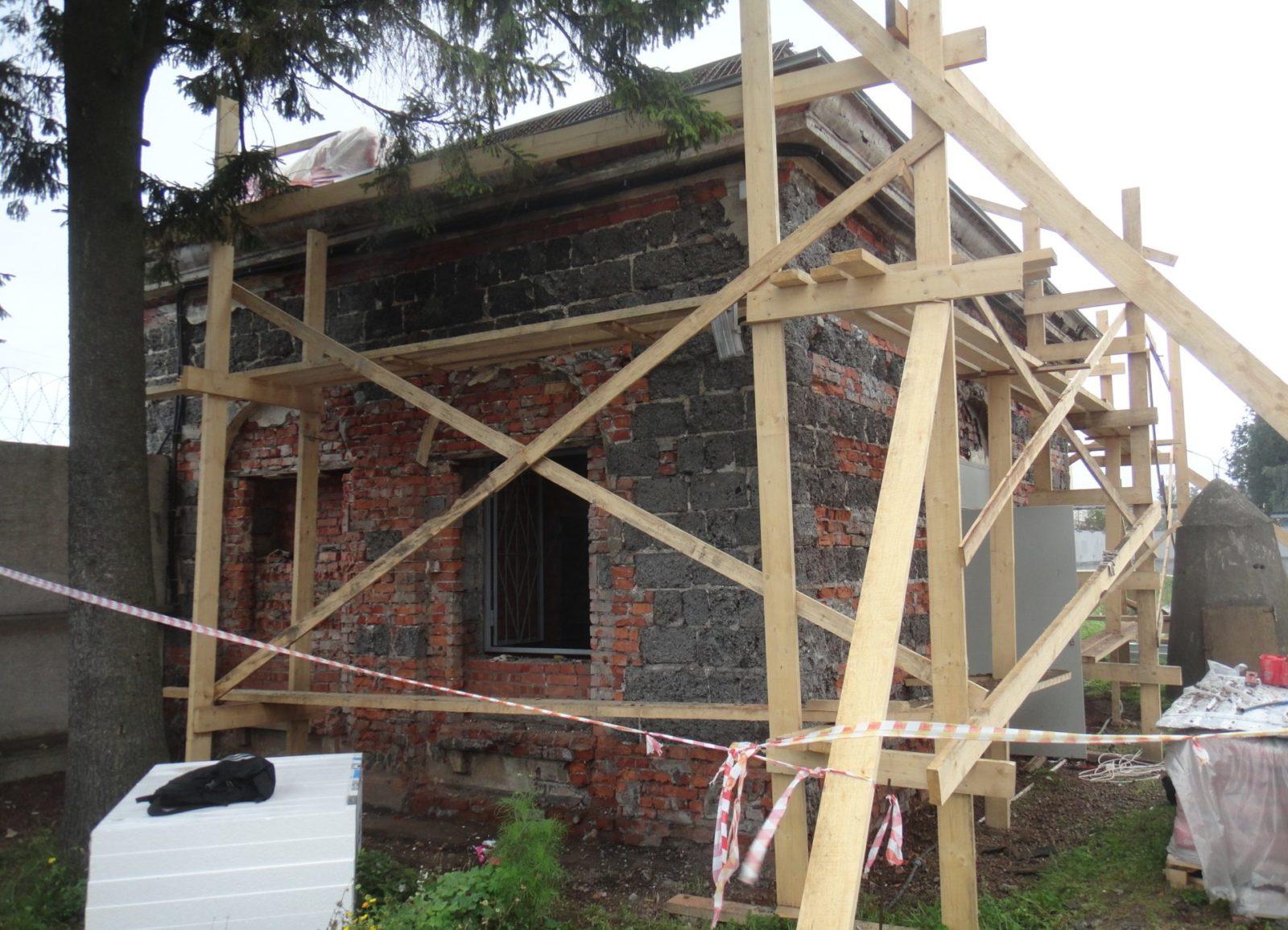 Качественный ремонт фасада пункта пропуска филиала ОАО «Ленэнерго» в СПб