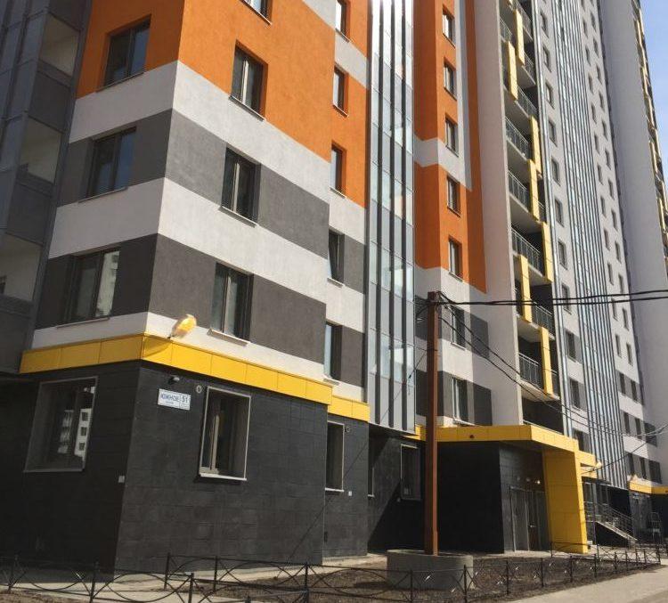 Устройство вентилируемых фасадов.Объем выполненных работ – 4 100 м2.