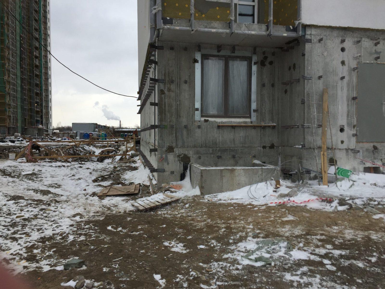 Работы по устройству вентилируемых фасадов для ПАО «Группа ЛСР» в СПб