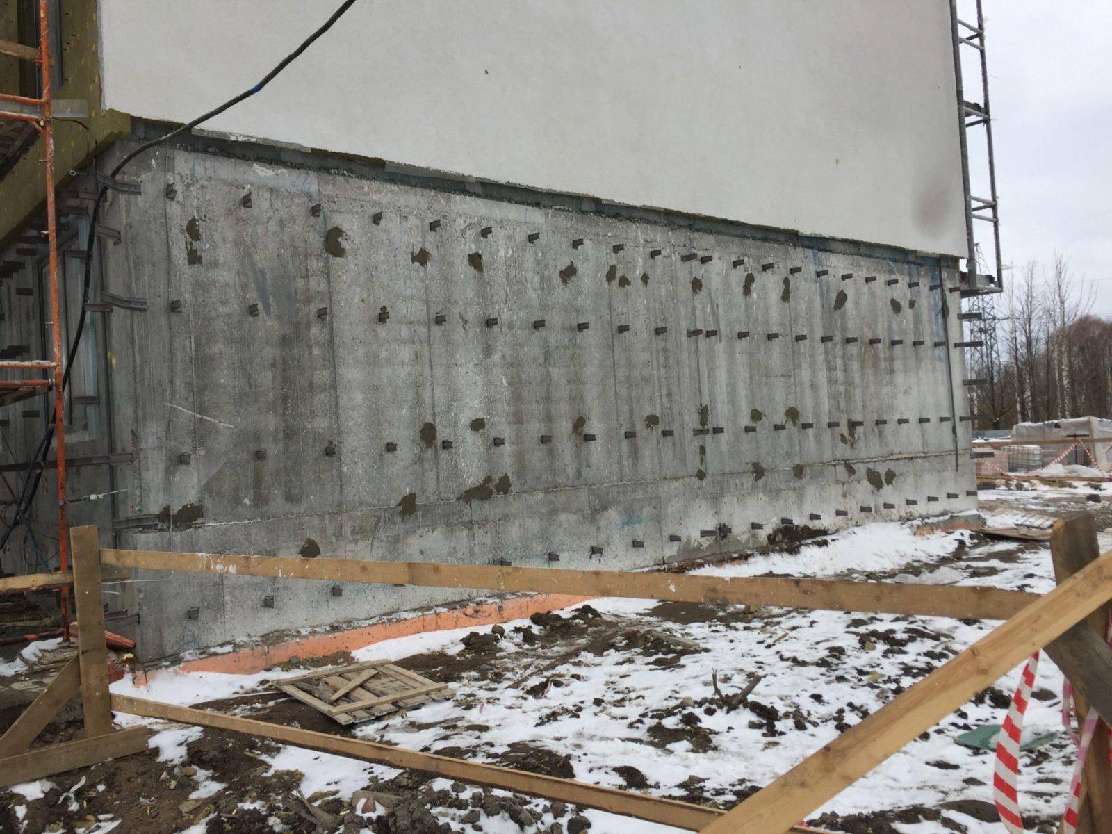 Работы по устройству вентилируемых фасадов для ПАО «Группа ЛСР» в Петербурге