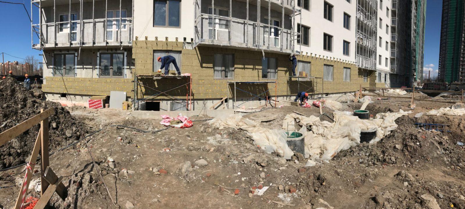 Выполнение работ по устройству вентилируемых фасадов для ПАО «Группа ЛСР»