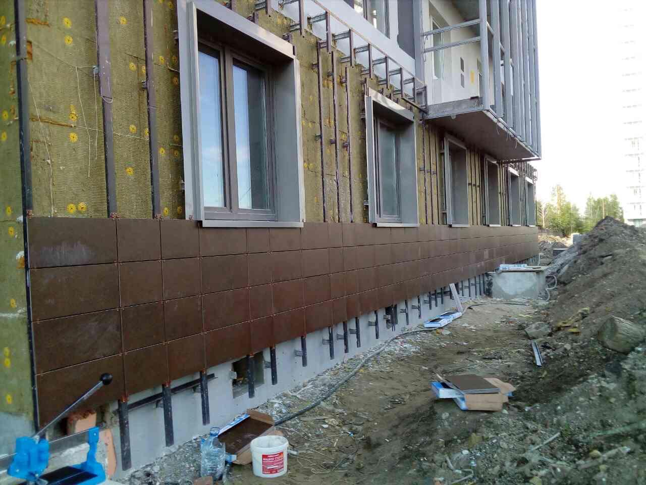 Стоимость выполнения работ по устройству вентилируемых фасадов для ПАО «Группа ЛСР»