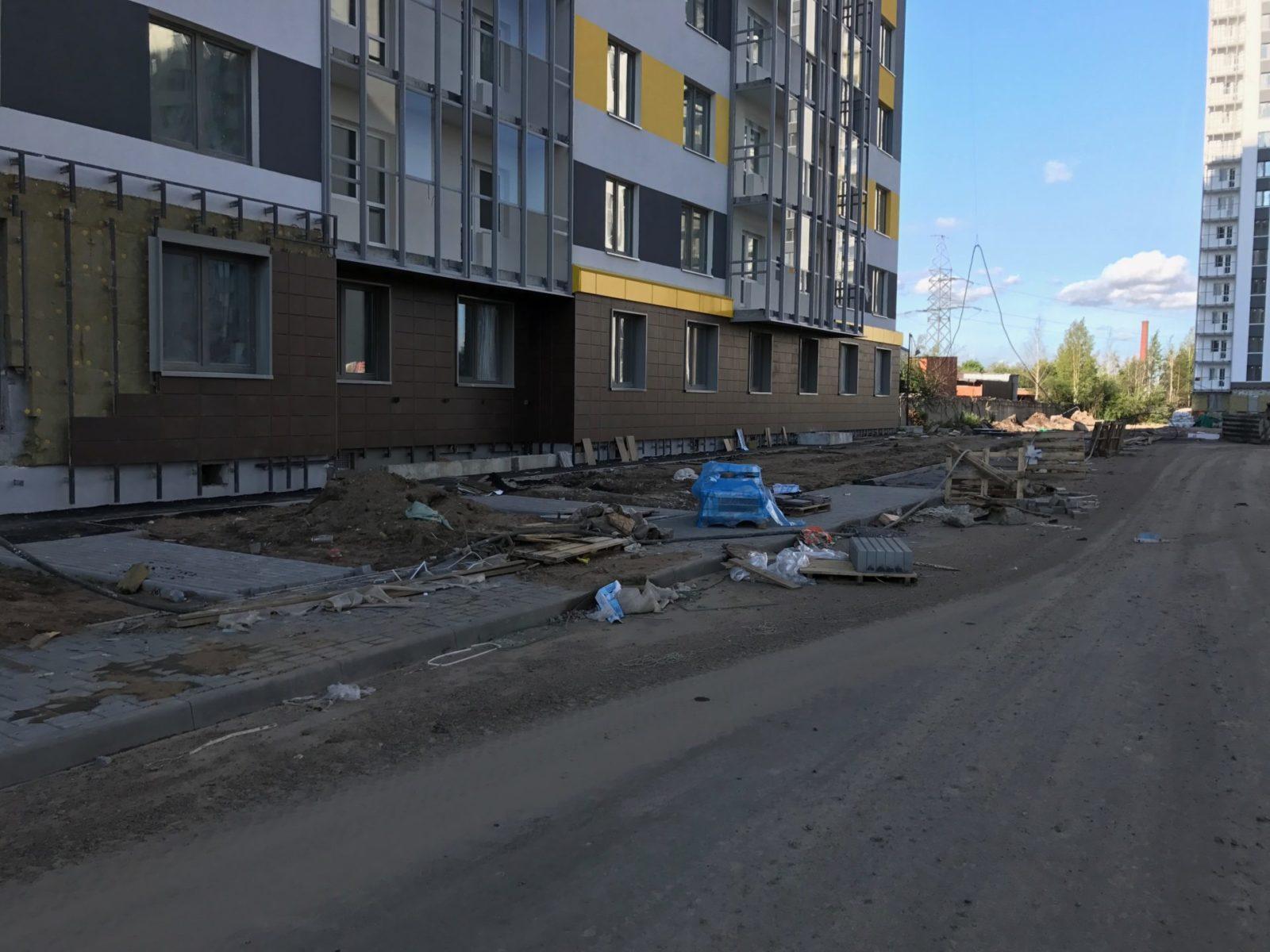 Стоимость выполнения работ по устройству вентилируемых фасадов для ПАО «Группа ЛСР» в Петербурге