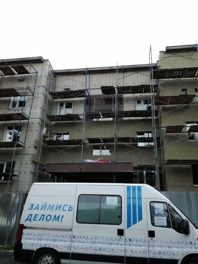 Устройство вентилируемого фасада здания Центра занятости вг. Гатчина для Администрации г. Гатчина в 2017 году