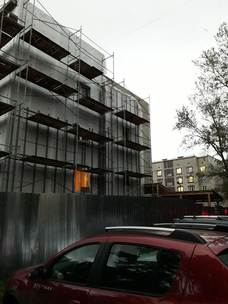 Выполнение работ по устройству вентилируемого фасада здания Центра занятости вг. Гатчина