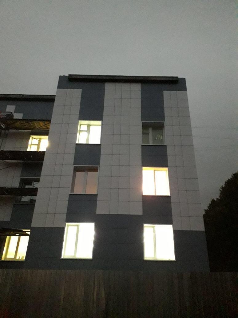 Цена выполнения работ по устройству вентилируемого фасада здания Центра занятости вг. Гатчина для Администрации г.Гатчина