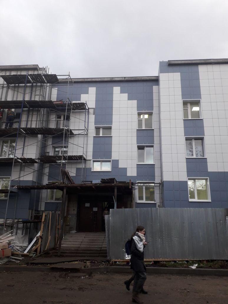 Стоимость работ по устройству вентилируемого фасада здания Центра занятости вг. Гатчина, ЛенОбласти