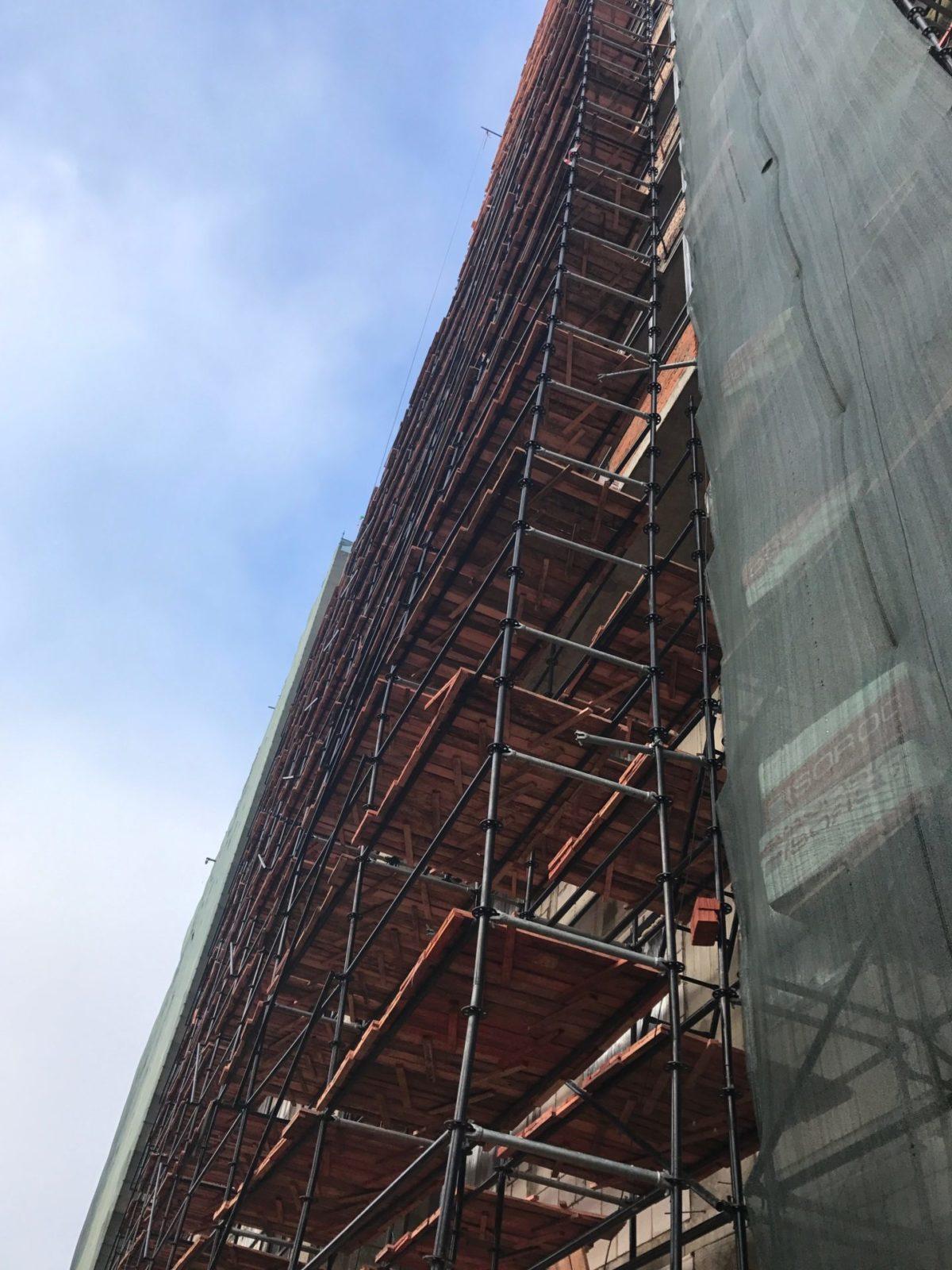 Устройство вентилируемых фасадов жилого комплекса для ООО «Антс-Групп» в СПб