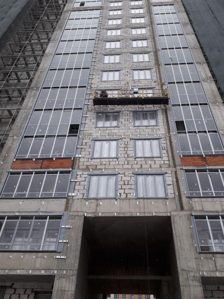 Работы по устройству вентилируемых фасадов жилого комплекса для ООО «Антс-Групп»