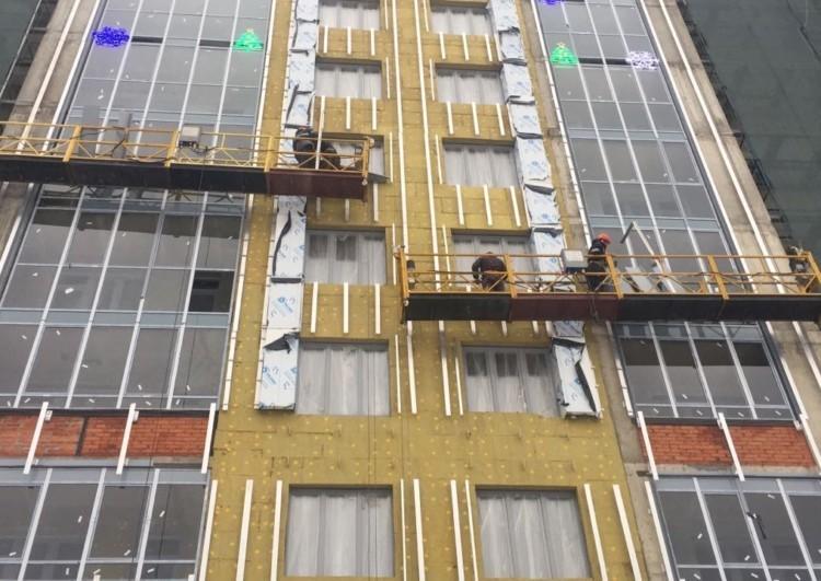 Монтируем фасад из керамогранита с вентиляцией