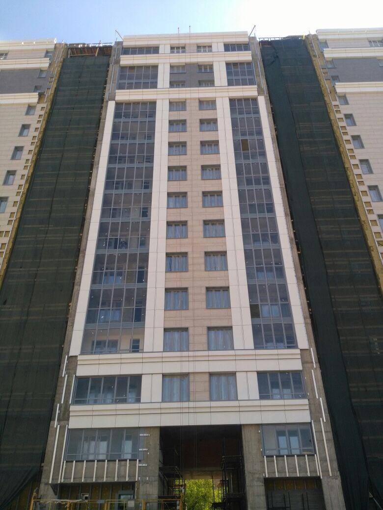 Цена работ по устройству вентилируемых фасадов жилого комплекса для ООО «Антс-Групп» в Петербурге