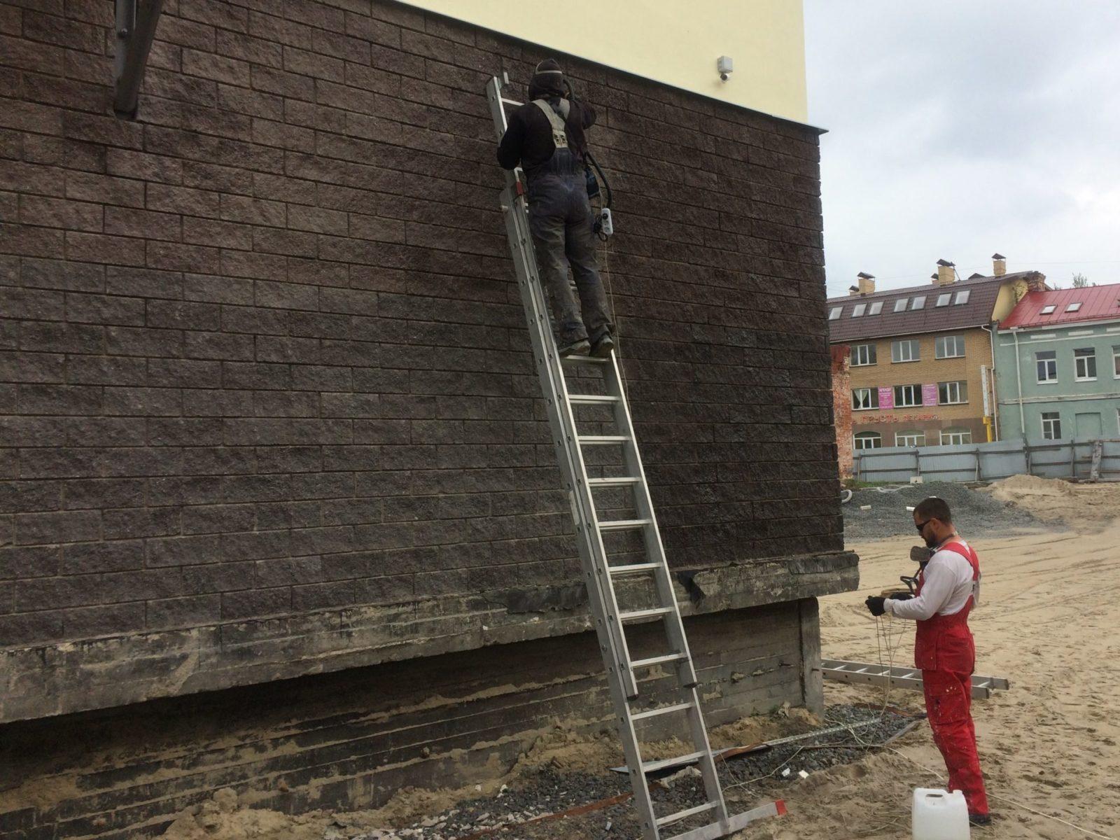 Цена ремонта штукатурного фасада для ООО «АСК Цитадель» в СПб