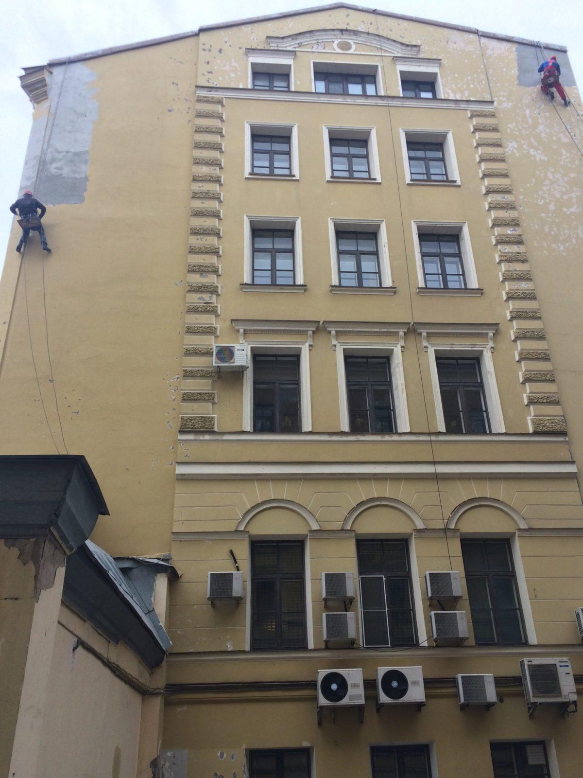 Фасадные работы здания Консульство Нидерландов, Набережная реки Мойки д.11