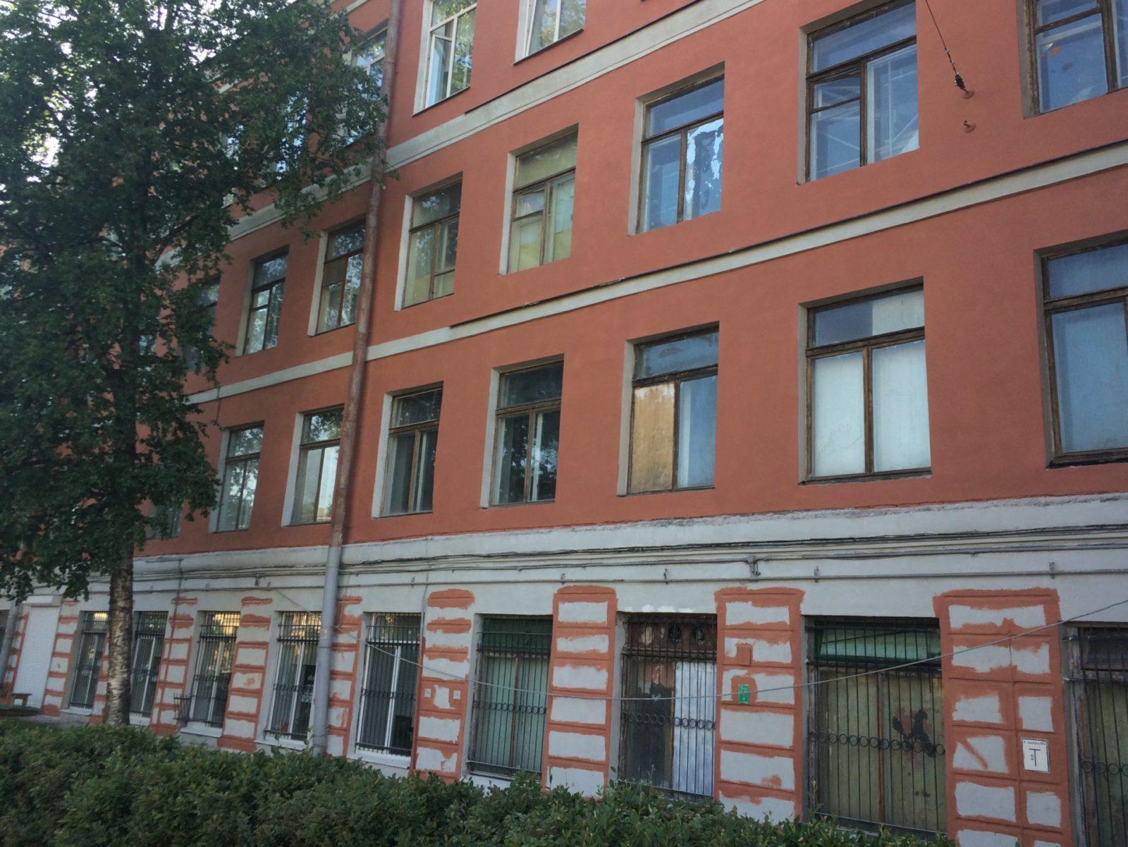 """Выполнение работ по частичной штукатуре здания для АО """"Светлана-Рентген"""" в Петербурге"""