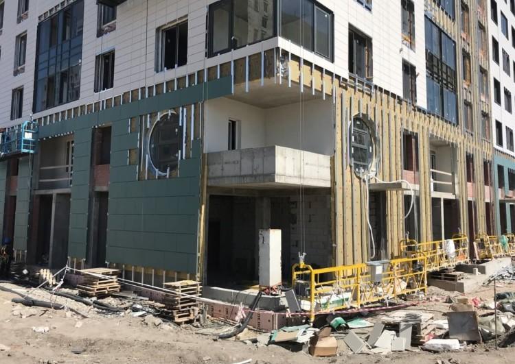 монтаж вентилируемого фасада Спб