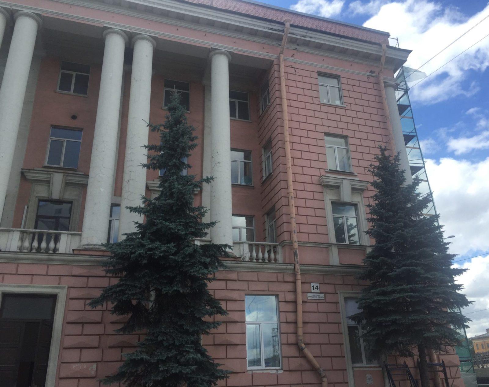 Качественный ремонта фасада здания на ул. Набережная Обводного канала, д.14 в СПб
