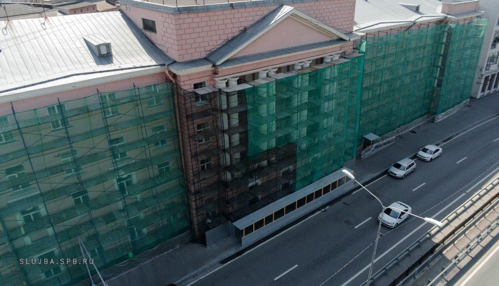 Капитальный ремонт фасада здания на ул. Набережная Обводного канала, д.14 в Санкт-Петербурге