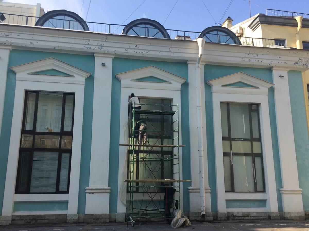 Косметический ремонт фасада здания в СПб