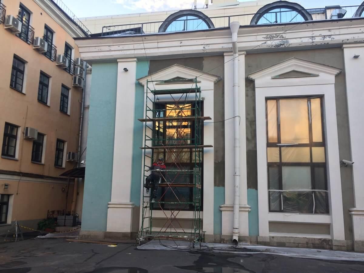 Косметический ремонт, шпаклевка фасада в СПб