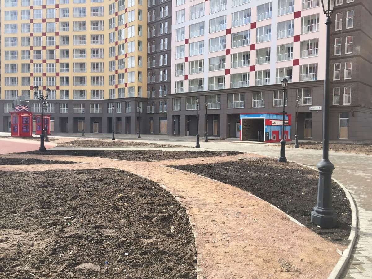 Монтаж навесного вентилируемого фасада в СПб. ЖК Кудрово.