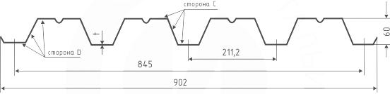 Профнастил N-60