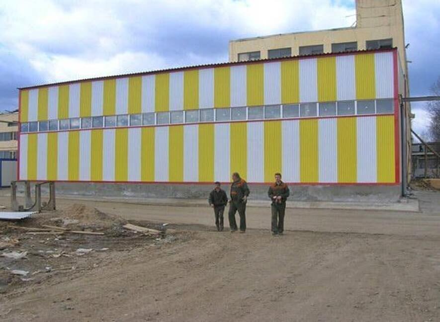 Пристройка к собственному заводу в связи с расширением производства