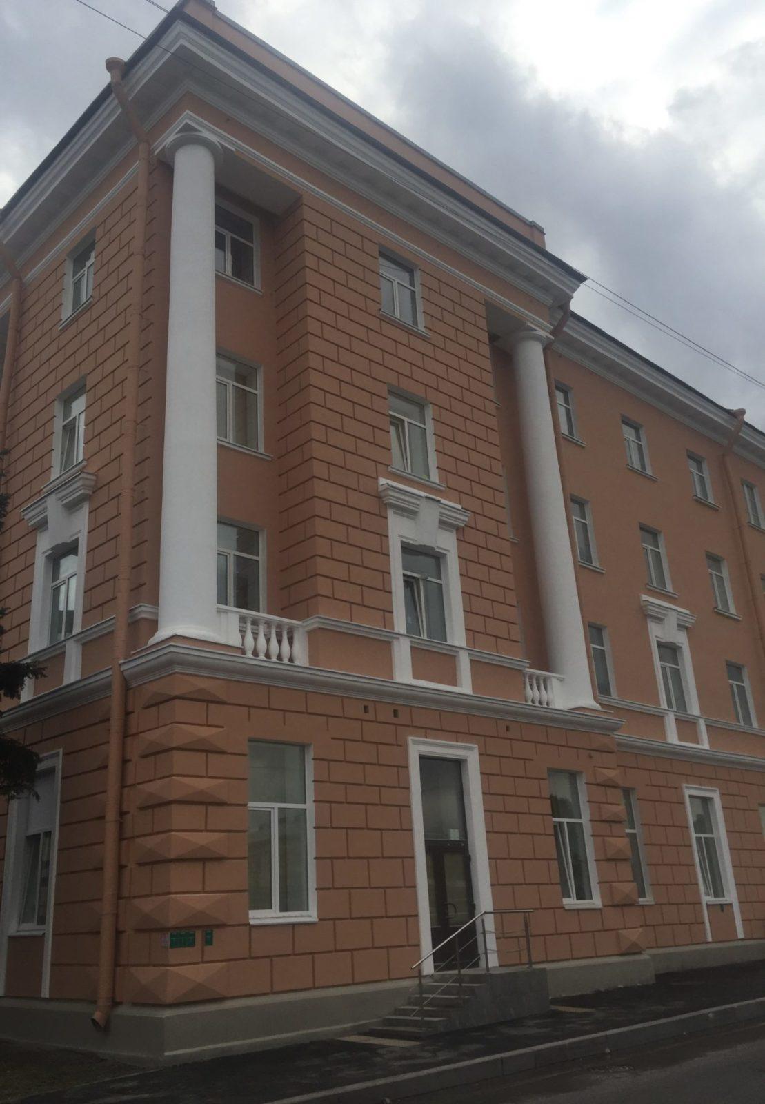 Проведен качественный ремонт фасада в короткие сроки на ул. Набережная Обводного канала, д.14 в СПб