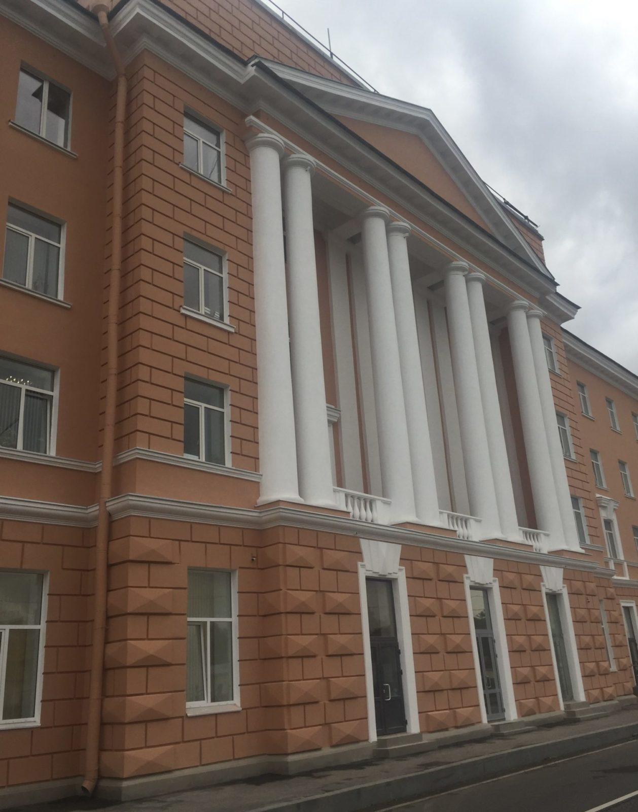 Проведен капитальный ремонт фасада в короткие сроки на ул. Набережная Обводного канала, д.14 в Питере