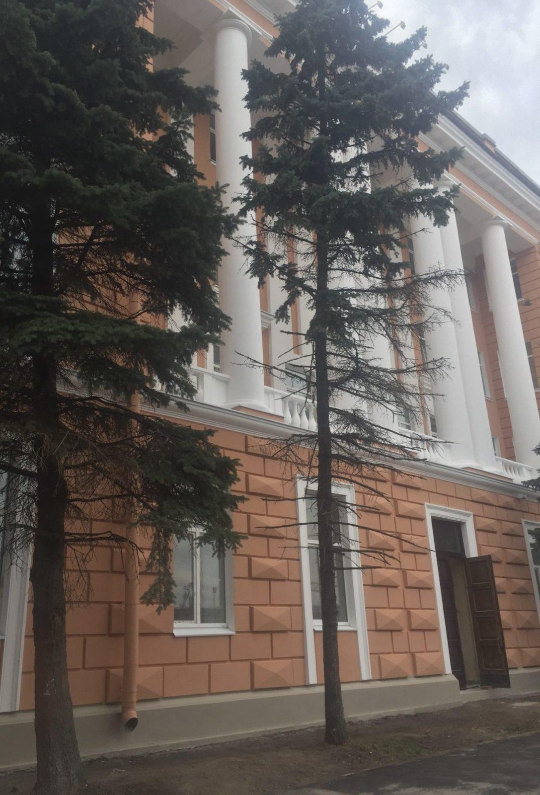 Проведен ремонт фасада здания на ул. Набережная Обводного канала, д.14 в СПб