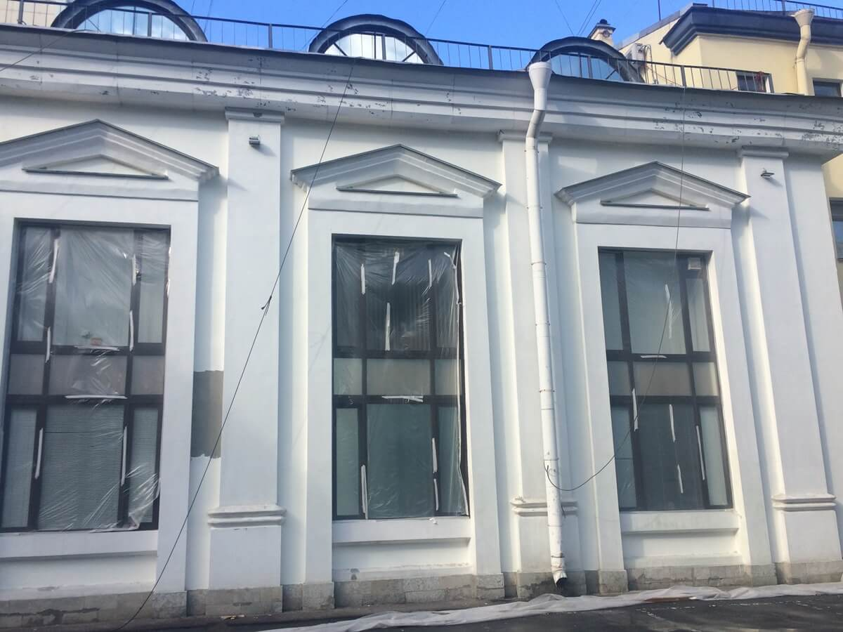 Ремонт фасада косметический в СПб