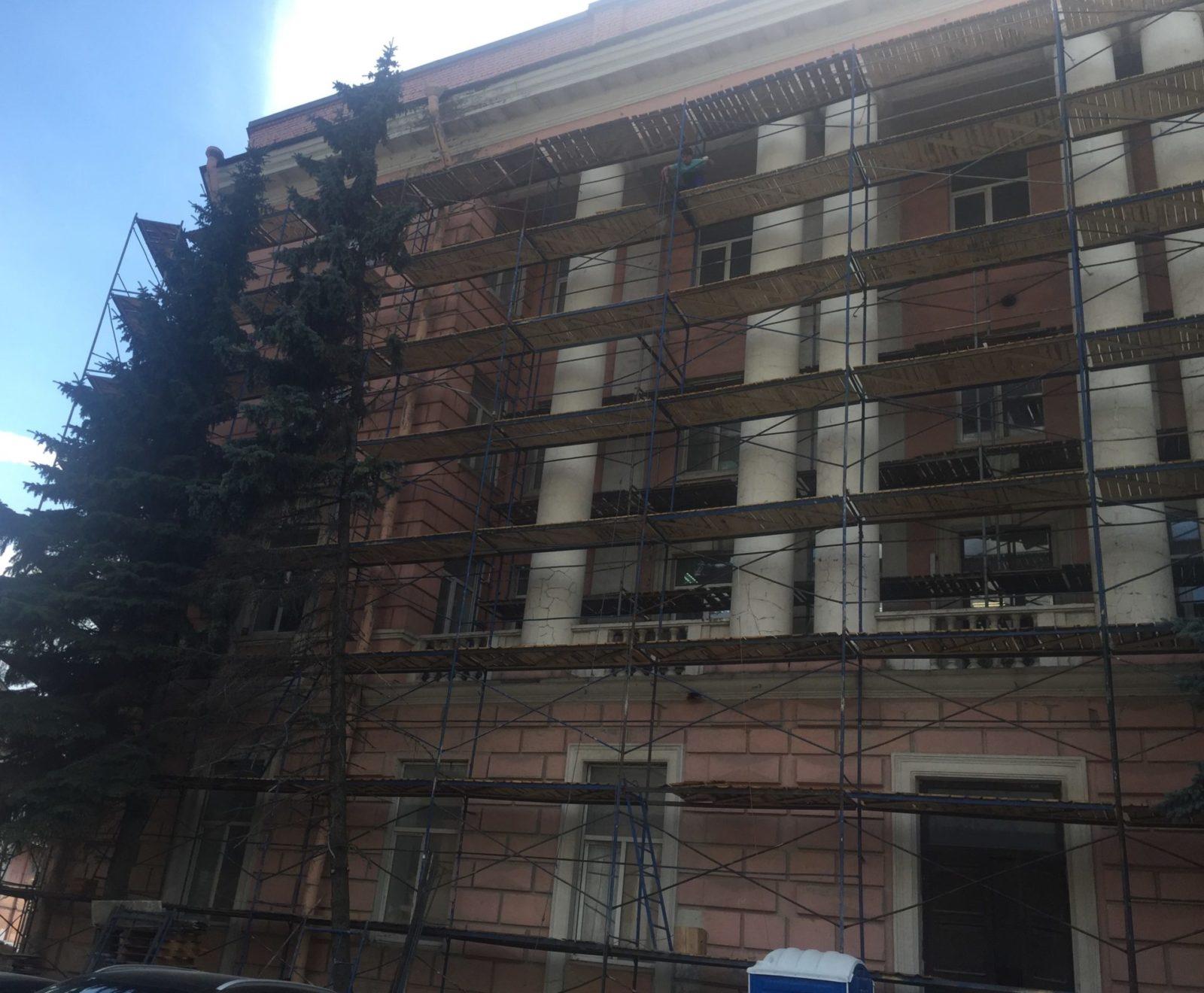 Ремонт фасада в сжатые сроки на ул. Набережная Обводного канала, д.14 в Питере
