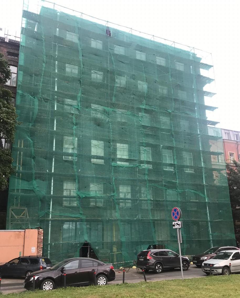 Ремонт фасада здания кирпичного на Заставской 33 в СПб