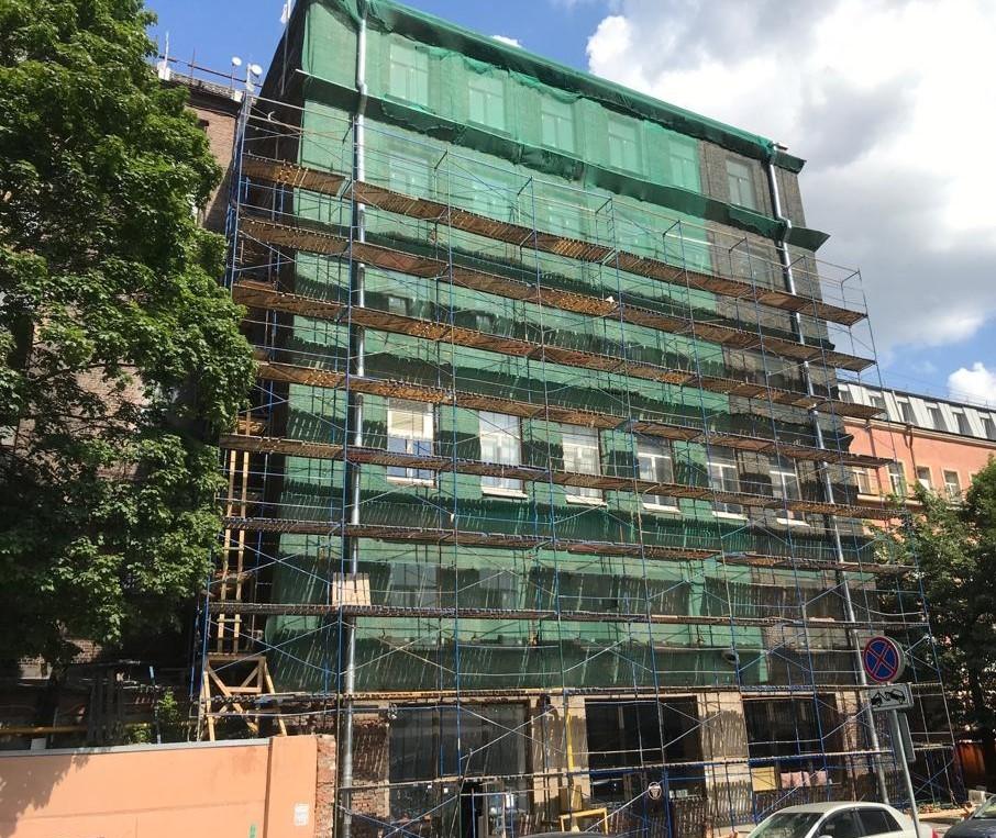Ремонт капитальный кирпичного здания на Заставской 33 в Питере