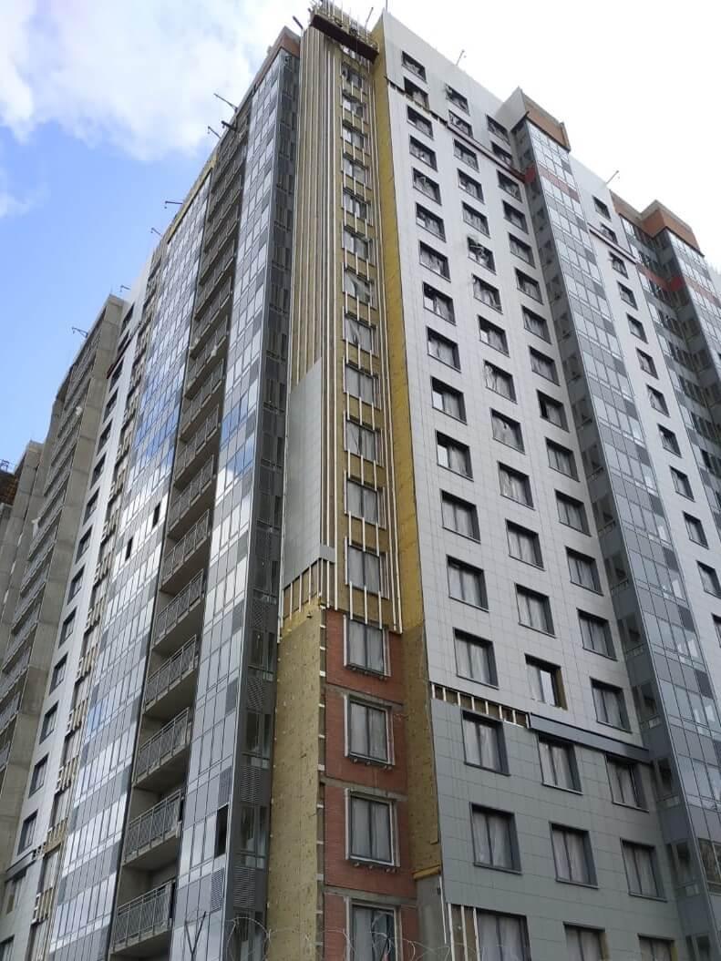 Ремонт вентилируемых фасадов зданий с облицовкой из керамогранитных плит в СПб