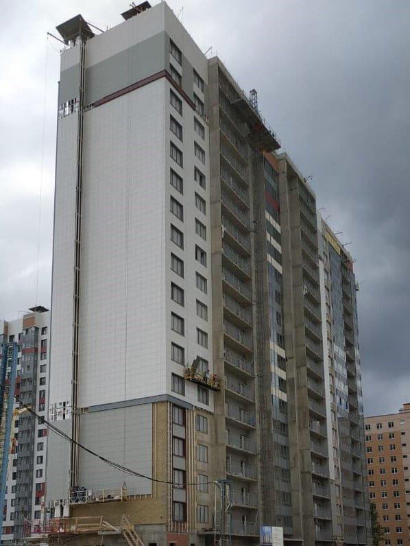 Ремонт зданий с облицовкой из керамогранитных плит и вентилируемых фасадов в СПб и Лен.области