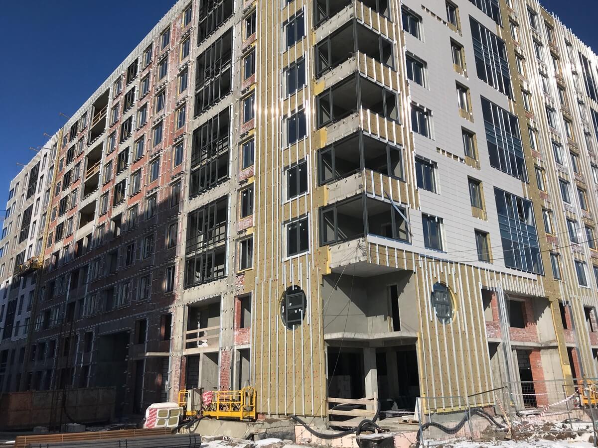 Ремонтные работы вентилируемых фасадов зданий в СПб