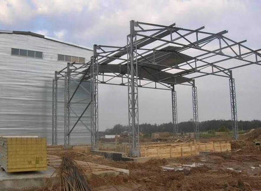 Строительство склада ангарного типа в Высоцке