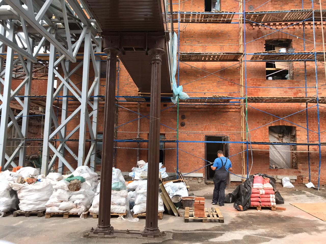 Стоимость ремонта фасада здания в СПб