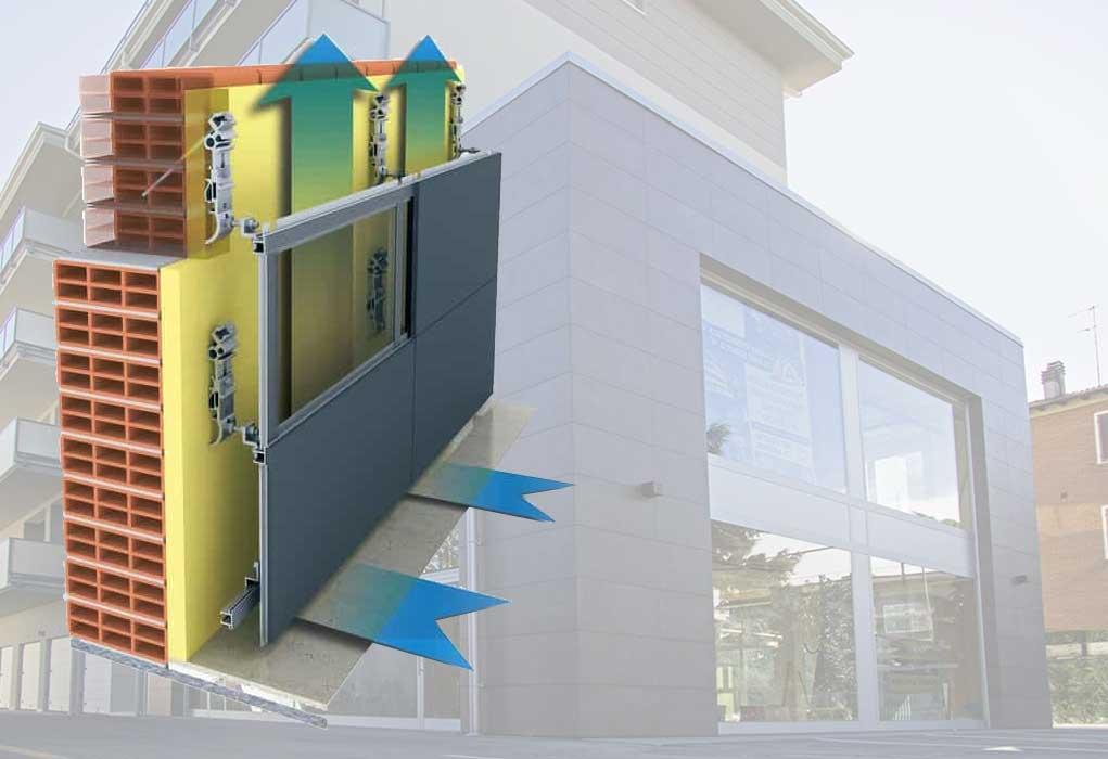 Установка вентилируемых фасадов