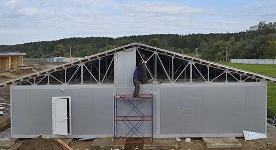 Строительство склада в поселке Селижарово