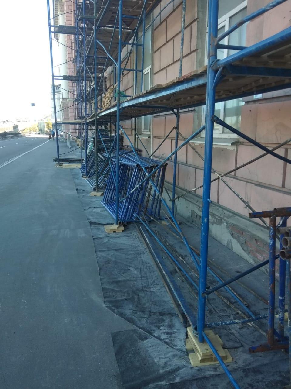 Выполнен капитальный ремонт фасада здания на ул. Набережная Обводного канала, д.14 в СПб