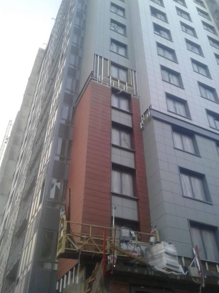 Цены на ремонт вентилируемого фасада здания с облицовкой из керамогранитных плит в СПб и Лен.области