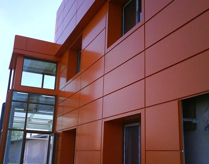 Облицовка и монтаж фасада из композитных панелей