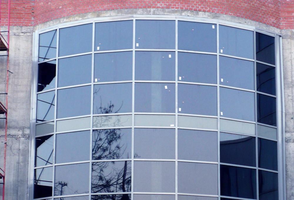Замена фасадного остекления здания